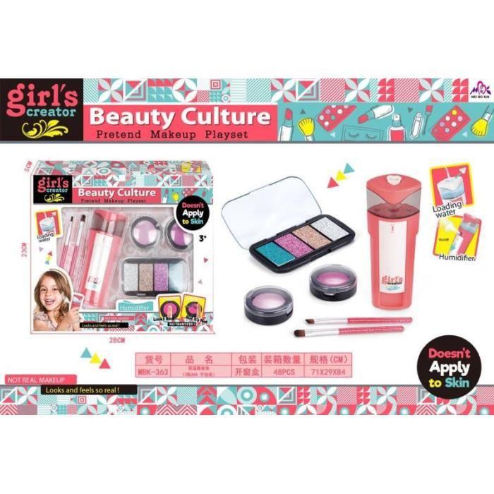 Jouets de maquillage pour filles Jeu miniature maquillage pour enfants en toute sécurité Ensembles de cosmétiques 6pcs