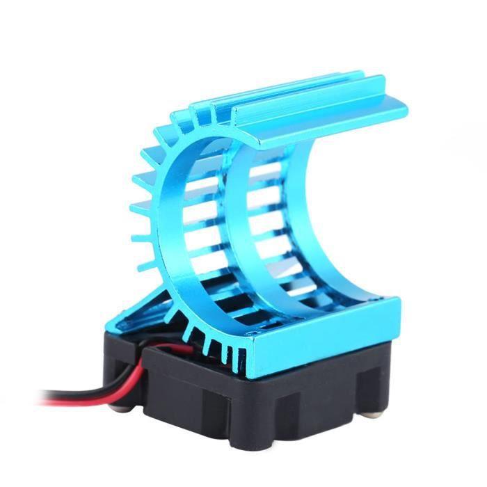 Cuque Dissipateur thermique moteur Dissipateur de chaleur avec ventilateur pour moteur électrique 380/390 de voiture RC à