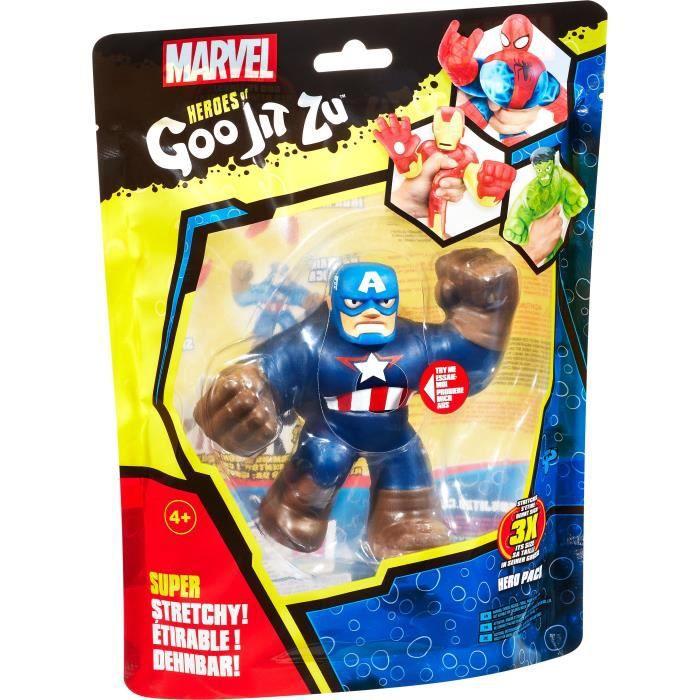Goo Jit Zu Marvel - 41135 - Figurine 11cm Captain America