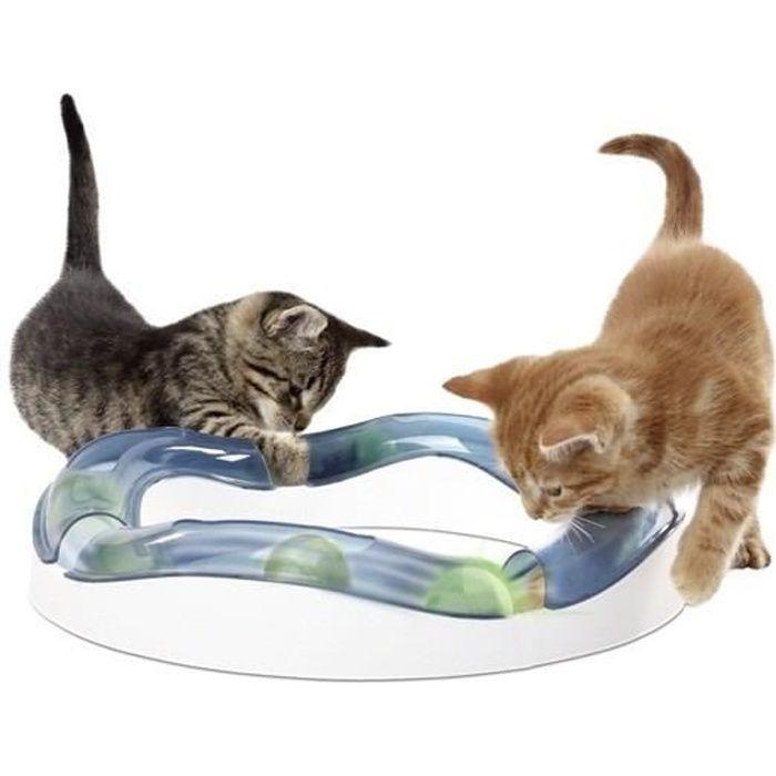 CAT IT Aire de jeux Speed Circuit avec balle lumineuse - Pour chat