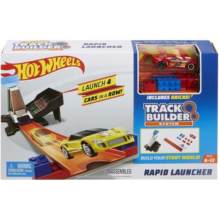 HOT WHEELS Track Builder Lanceur à Propulsion
