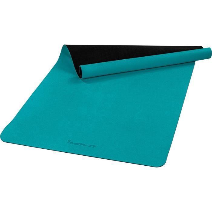 MOVIT Tapis de gymnastique XXL TPE, tapis de pilates, tapis d'exercice premium, tapis de yoga, 190 x 100 x 0,6 cm, bleu pétrole