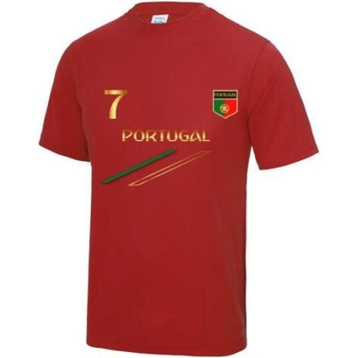 Maillot - Tee shirt de foot Portugal enfant Taille de 3 à 13 ans (3 / 4 ans - rouge)
