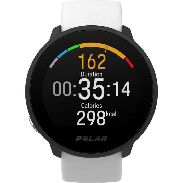 POLAR Montre fitness étanche Unite avec GPS S/L - Blanc