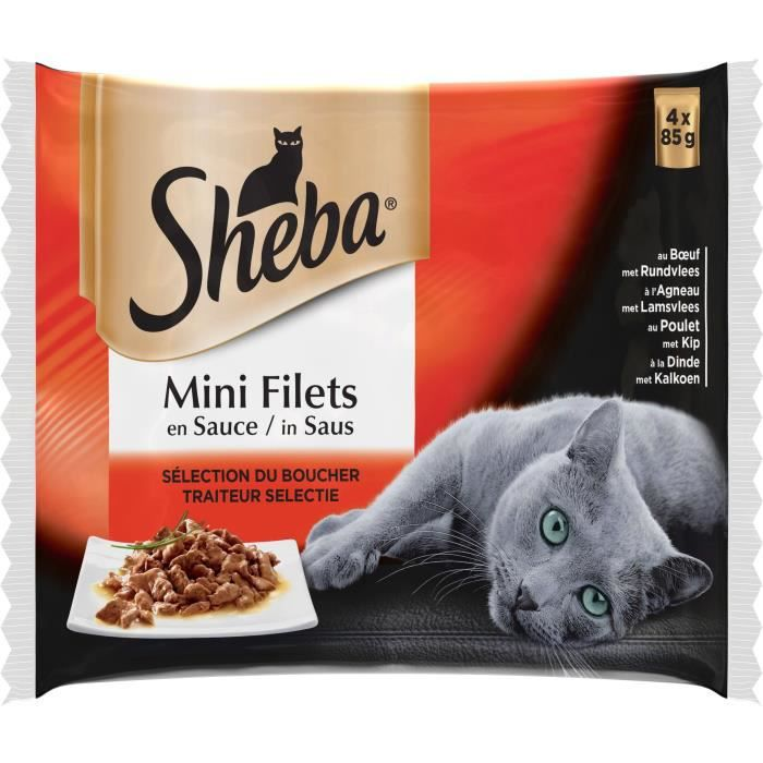 SHEBA Mini filets sachet sauce boucher - 4 x 85 g