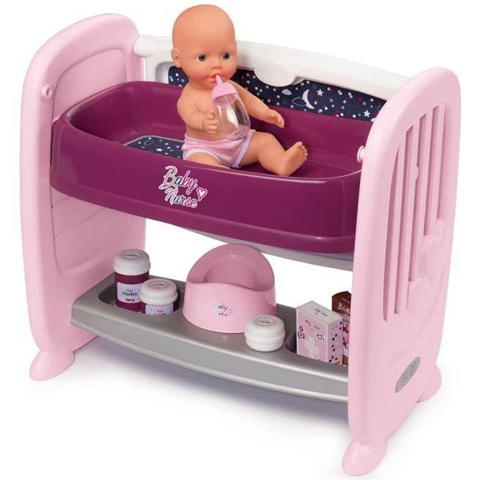 SMOBY Baby Nurse Cododo 2 en 1 - 14 Accessoires + Poupon Pipi