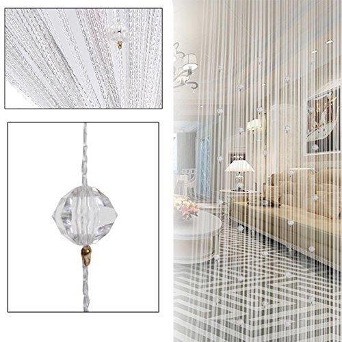 Rideau de fil de perles 40 perles (Blanc)