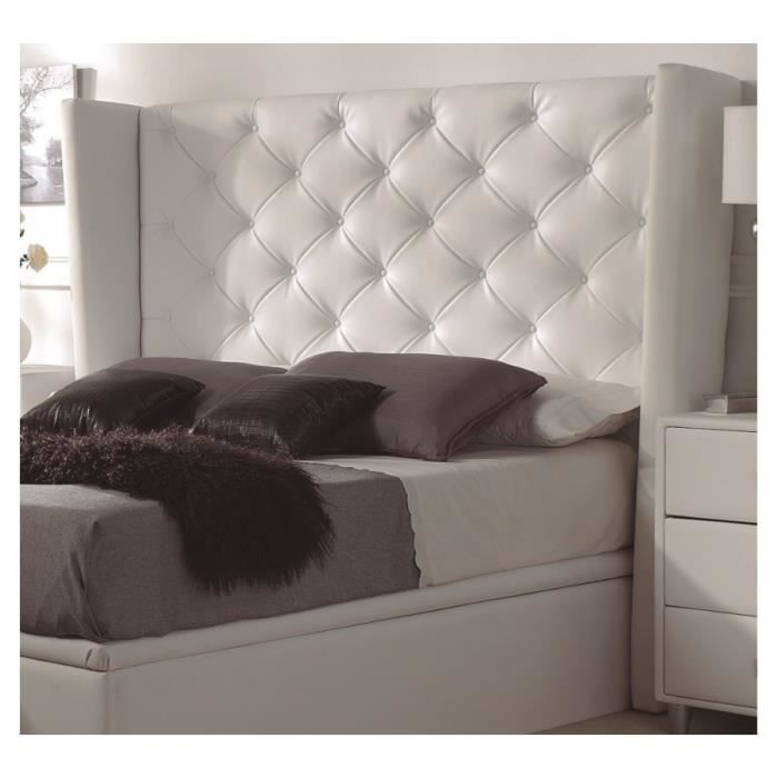 t te de lit capitonn e oreillette cr me bering achat. Black Bedroom Furniture Sets. Home Design Ideas