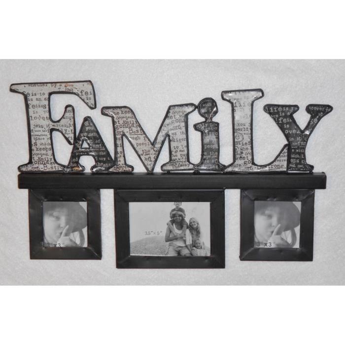 CADRE PHOTO Cadre Photo Mural Multivues Family en Métal