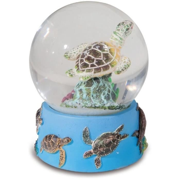 boule de neige figurine tortue avec d cor mer achat vente statue statuette r sine cdiscount. Black Bedroom Furniture Sets. Home Design Ideas