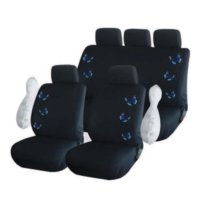 housse de siege voiture auto motif papillons brod achat vente housse de si ge housse de. Black Bedroom Furniture Sets. Home Design Ideas