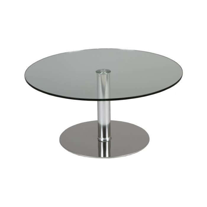 table basse table basse verre tremp ronde hauteur rglable - Table Basse Hauteur Reglable