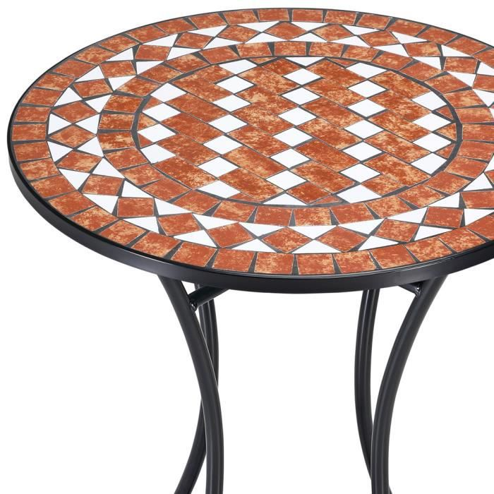 table mosaique terracotta 60cm jardin balcon achat. Black Bedroom Furniture Sets. Home Design Ideas