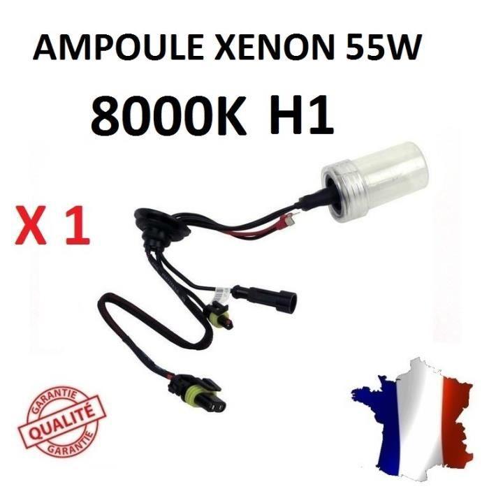 AMPOULE TABLEAU BORD 1 ampoule xenon H1 8000K 55W de rechange