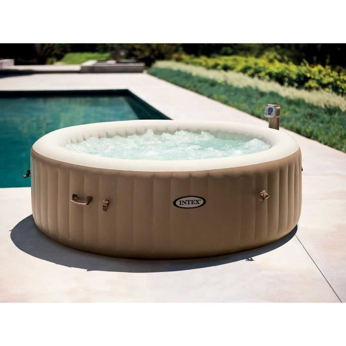 Intex Spa Gonflable Rond Purespa Bulles 6 Places Achat Vente