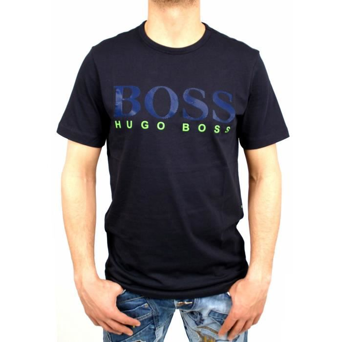 t shirt hugo boss green homme neuf bleu achat vente t shirt cdiscount. Black Bedroom Furniture Sets. Home Design Ideas