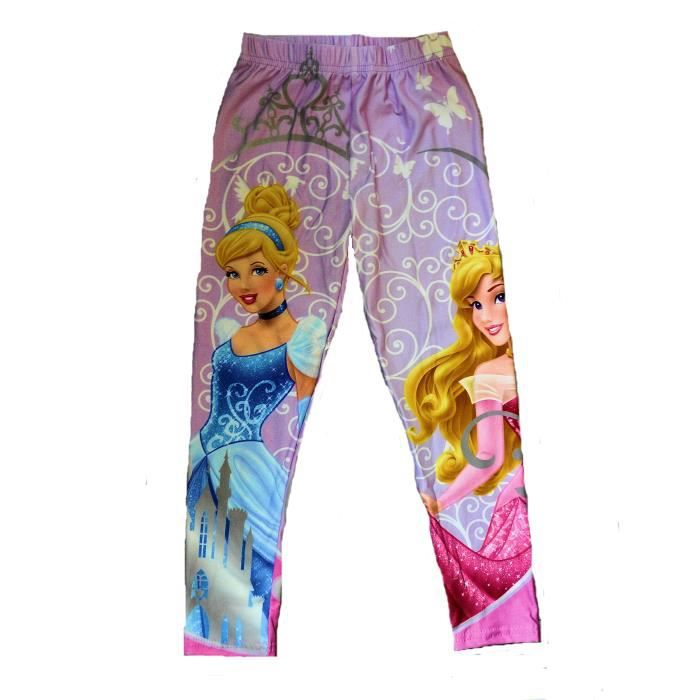 legging pantalon princesse disney couleur mauve pour enfant fille violet achat vente. Black Bedroom Furniture Sets. Home Design Ideas