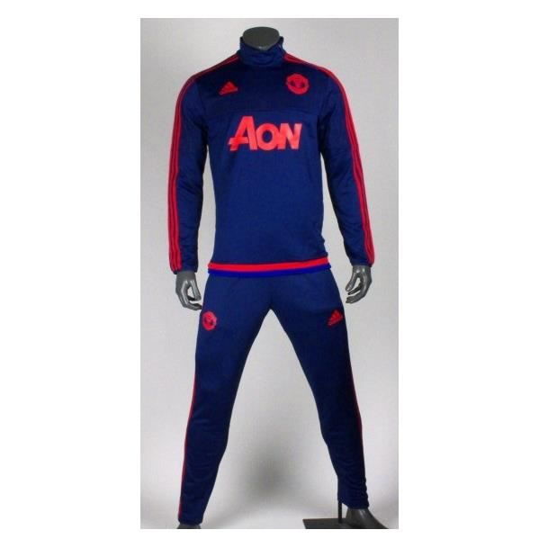surv tement training manchester united 2015 2016 bleu bleu achat vente surv tement de sport. Black Bedroom Furniture Sets. Home Design Ideas