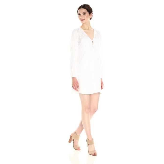 Airy Femmes Robe Boutonnee Devant 1wb9ws Taille 32 Blanc Achat Vente Robe Cdiscount