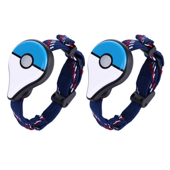 MANETTE JEUX VIDÉO 2pcs Bracelet Connecté Pokémon Go (Blue)