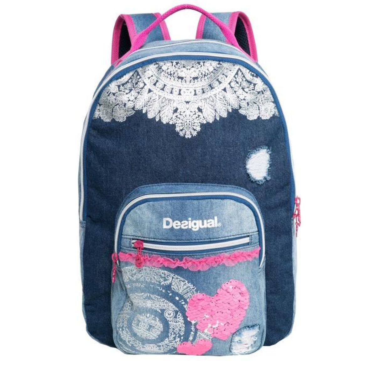 sac dos desigual mochila denim 67x31f7 5006 bleu bleu achat vente sac dos 2009836255354. Black Bedroom Furniture Sets. Home Design Ideas