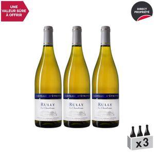 VIN BLANC Rully La Chatalienne Blanc 2017 - Lot de 3x75cl -