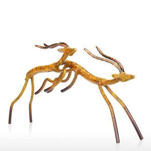 STATUE - STATUETTE JL Tooarts Antilope Sauteur Sculpture Statuette d'