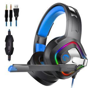 CASQUE AVEC MICROPHONE Casque gamer Gaming game Audio Stéréo Anti Bruit L