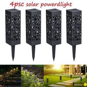 LAMPE DE JARDIN  4pcs LED Lampe Énergie Solaire Décoration Extérieu