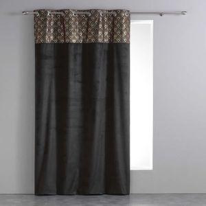 RIDEAU Rideau tamisant a oeillets 140 x 240 cm velours+to