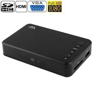 LECTEUR MULTIMÉDIA Lecteur média HD 1080P - HDD, SD, USB, HDMI, VGA