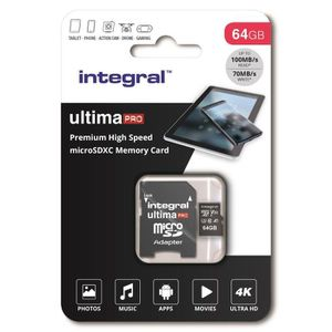 CARTE MÉMOIRE INTEGRAL MEMORY Premium High Speed V30 UHS-I U3 Mi