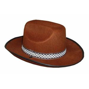 CHAPEAU - PERRUQUE Chapeau Feutre Cow Boy Marron enfant
