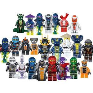 FIGURINE - PERSONNAGE 24pcs-lot Plastique Mini Ninjago Figurine Jouet Pe