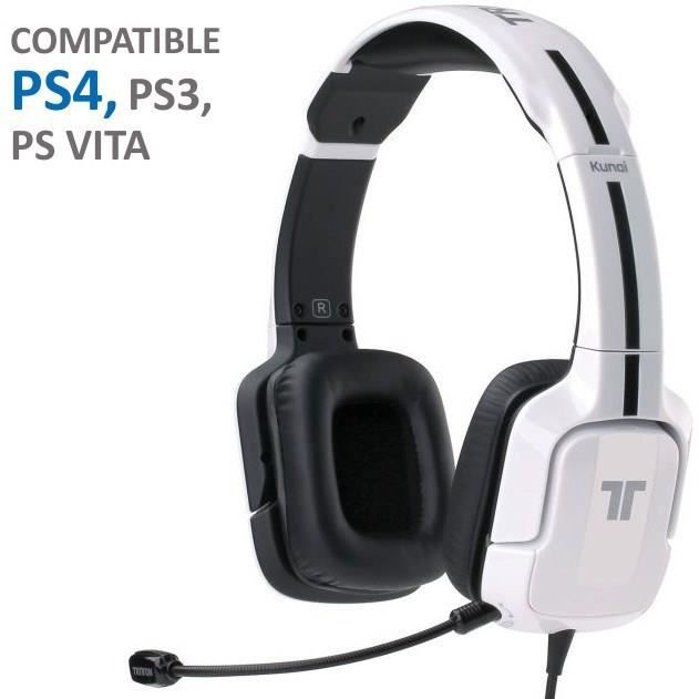 casque gaming tritton kunai blanc ps vita ps3 ps4 achat vente casque micro console tritton. Black Bedroom Furniture Sets. Home Design Ideas