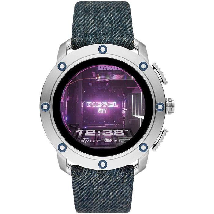 Homme Écran Tactile Digital Montre Connectée avec Bracelet en Tissu DZT2015[782]