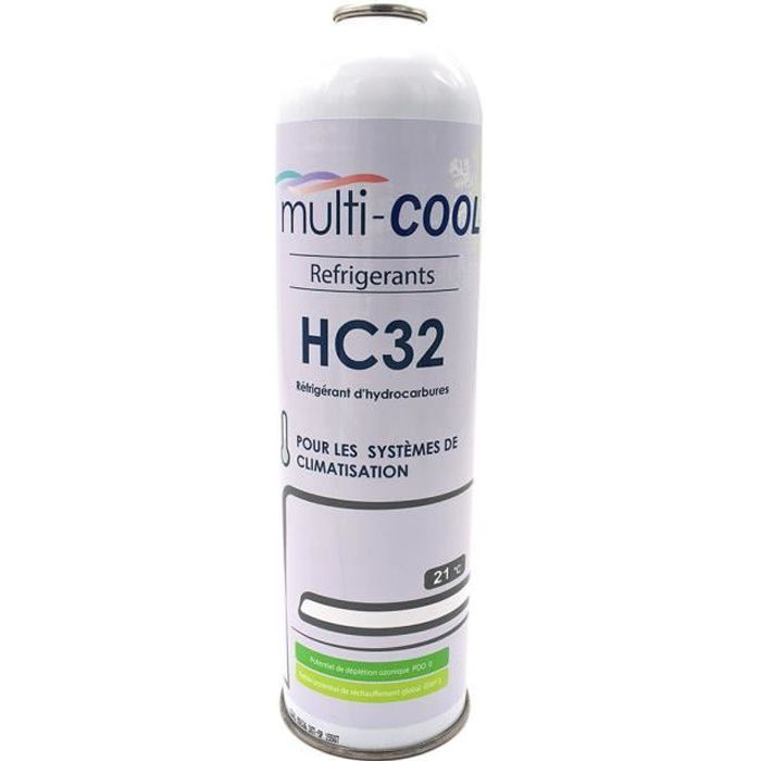 Canette Réfrigérant Multicool-R32 de 350grs, remplace le R32 et le R410a-