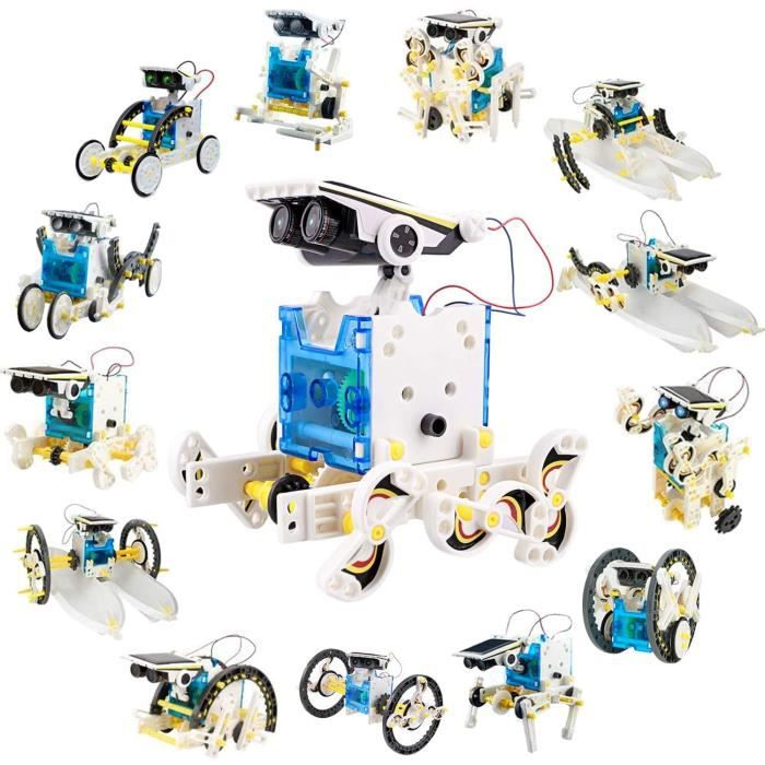 VEHICULE A CONSTRUIRE ENGIN TERRESTRE A CONSTRUIRELatocos Kit Robot a Construire STEM Robot Solaire 14 en 1, Jeu de Constructi505