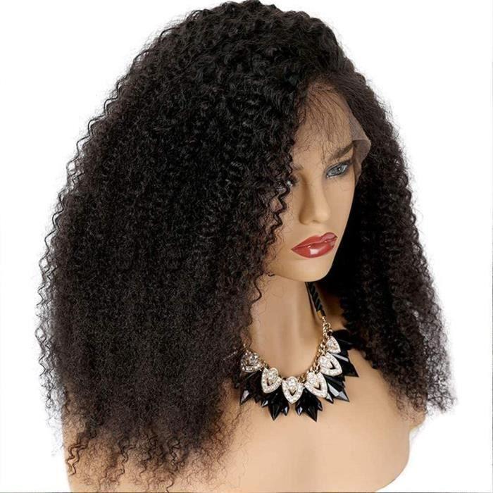 PERRUQUE Lace Perruques Human Hair Kinky Curly13X4 Kinky Curly Cheveux Humains Avec Des Cheveux De Beacutebeacute Cheveux Vierge916