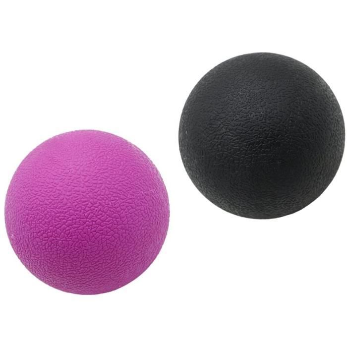Acupression Bonarty 2 Pcs Trigger Point Deep Tissue Lacrosse Myofascial Boule De Massage Pour Le - Violet noir 35431
