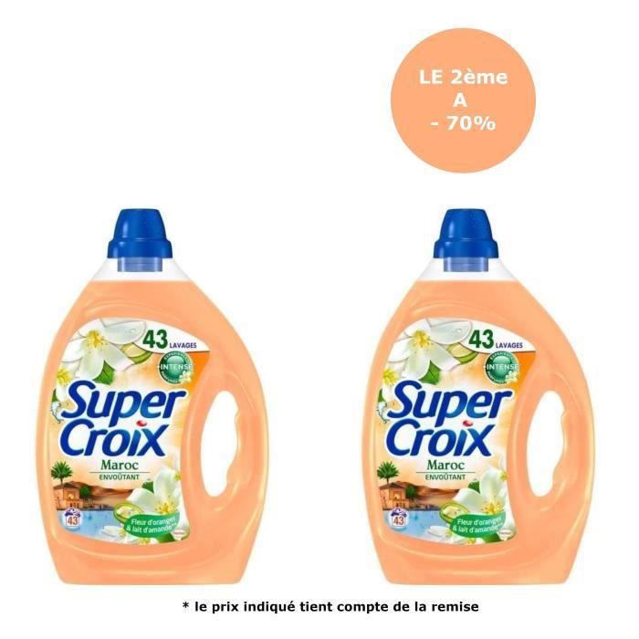 [Lot de 2] SUPER CROIX Lessive Maroc - 2,15 L