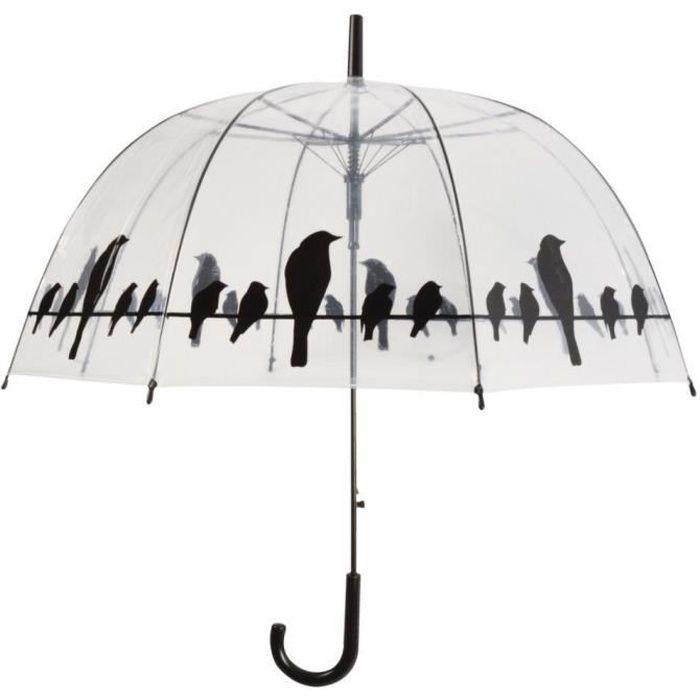 Parapluie transparent -oiseaux sur un fil- Esschert Design TP166