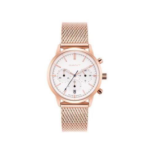 Montre gant bracelet doré or rose pour homme ronde date Chronographe étanche GTAD08200499I