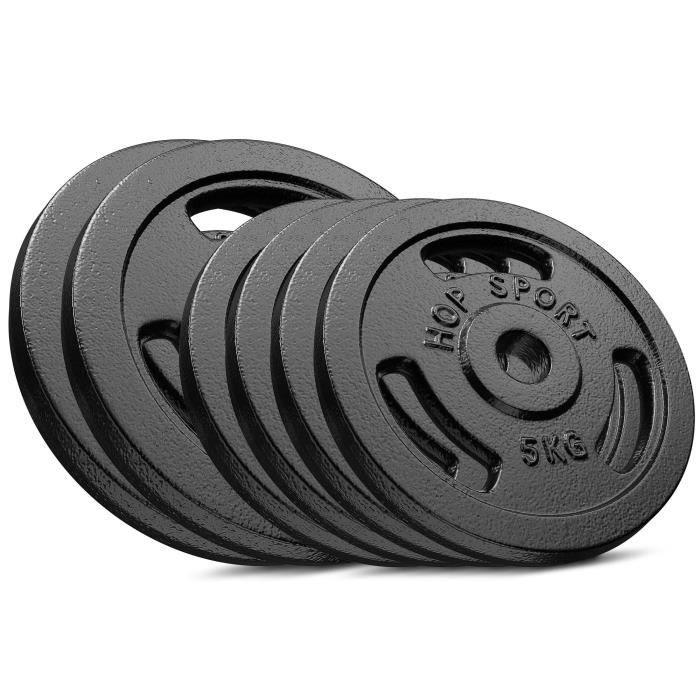 HS Hop-sport Disques en Fonte 40kg (2x10kg + 4x5kg) SET DE