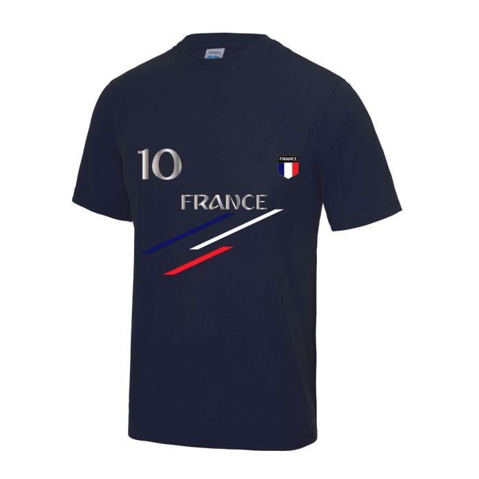 Maillot - Tee shirt foot France 2 étoiles enfant bleu marine Taille de 3 à 13 ans