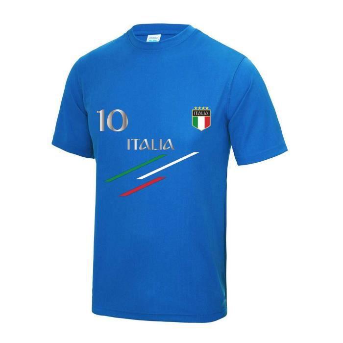 Maillot - Tee shirt de foot Italie enfant Taille de 3 à 13 ans (7 / 8 ans - bleu)