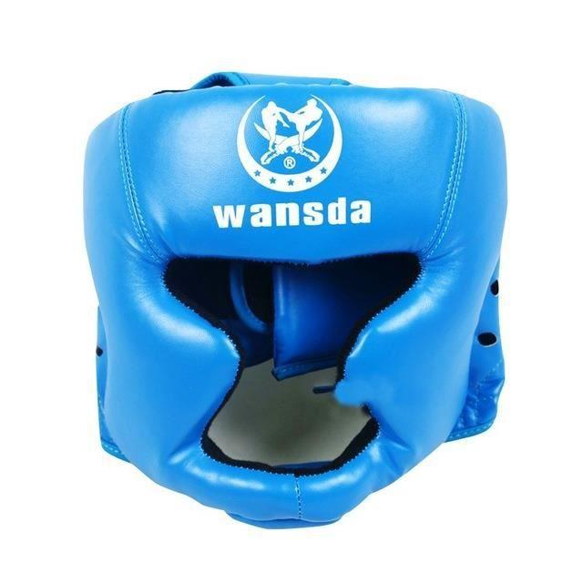Tongcart Bonne Formation De Boxe Noire Sanda équipement De Protection Casque Casque Fermé Mma Ufc Muay Thai Combat équipement De
