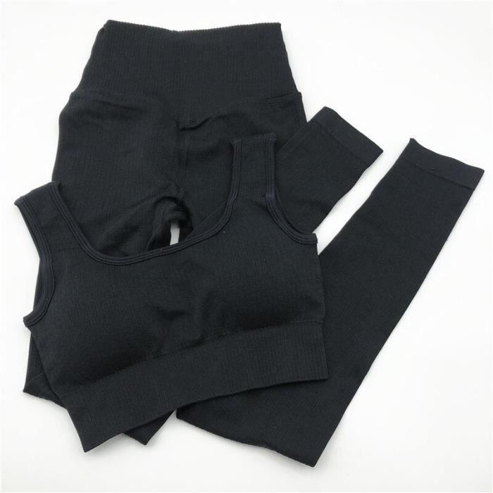 Textile Fitness - Danse,Ensemble de Yoga vêtements de Sport pour femmes vêtements de Sport costume de Sport pour - Type black set
