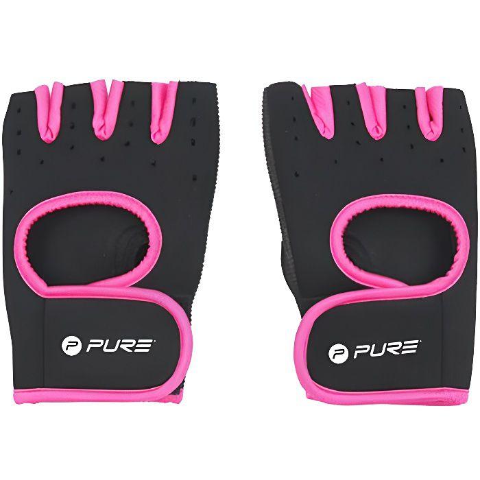 Gants de fitness femme Pure2Improve neoprene - noir/rose - S/M