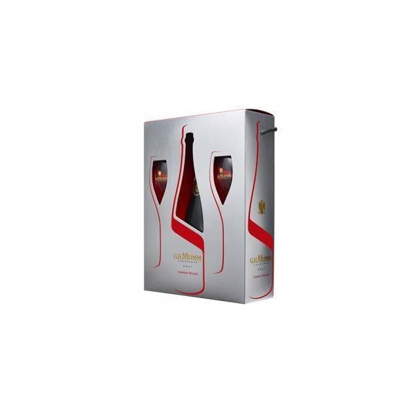 Mumm Cordon Rouge - Coffret 2 flûtes - Champagne AOC